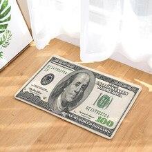 Corredor de entrada capacho dólar dinheiro padrão tapetes sala estar decoração casa cozinha absorvente tapete anti derrapante tapete do banheiro