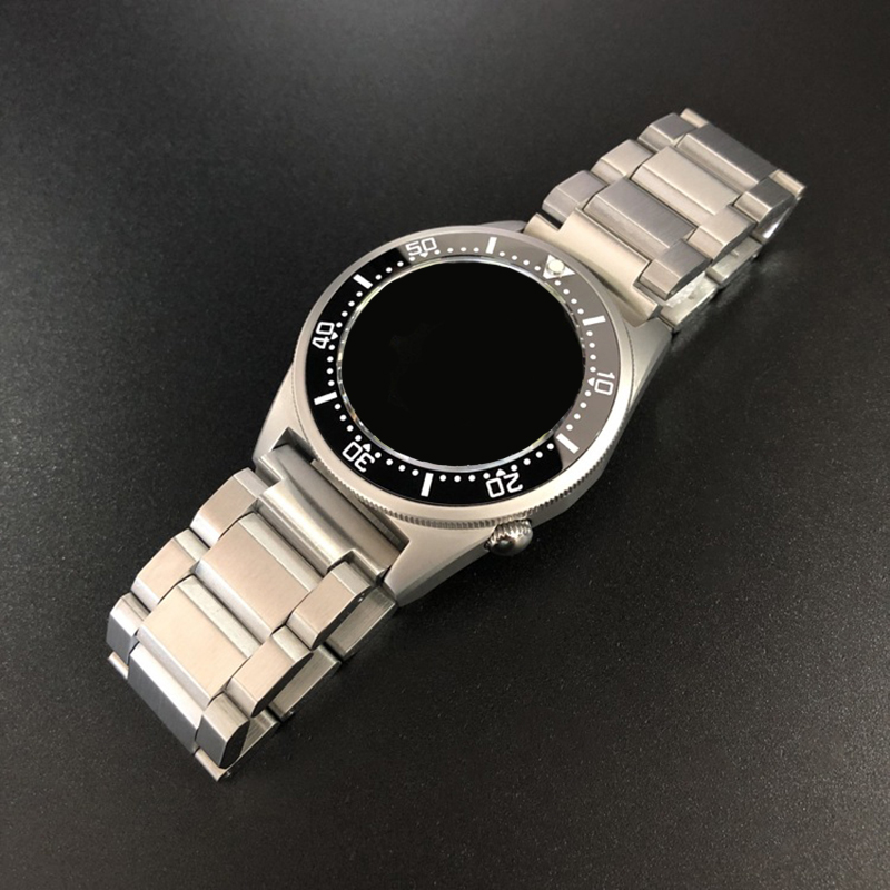 20 22mm Stainless Steel Watchband Watch Strap Fold Buckle Clasp Wrist Belt Bracelet Silver For Seiko Watch Accessories