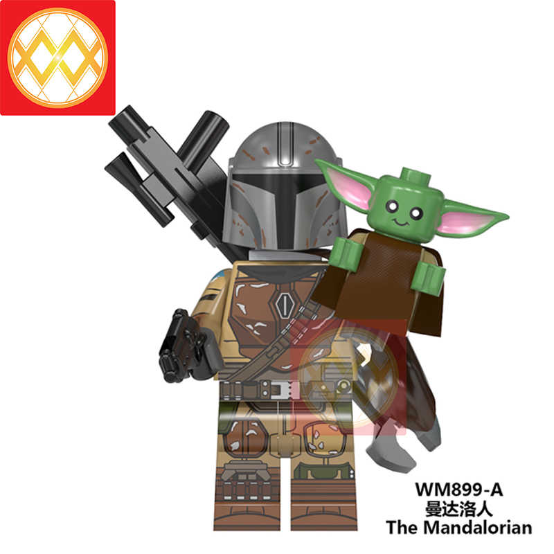 Bebé Yoda Mandalorian Star Wars figuras de Star Wars caballeros de ren bebé Yoda Darth Vader Dooku Sidious bloques de construcción Juguetes