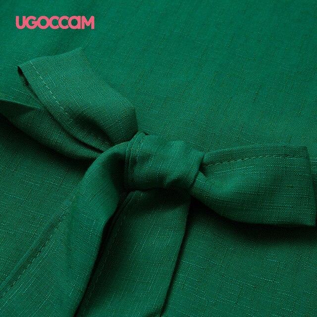 UGOCCAM Summer Women Blouses Sexy V Neck Plus Size Short Sleeve Shirt Loose Blouse Shirt Plus Size Tops blusas Women Clothes 6