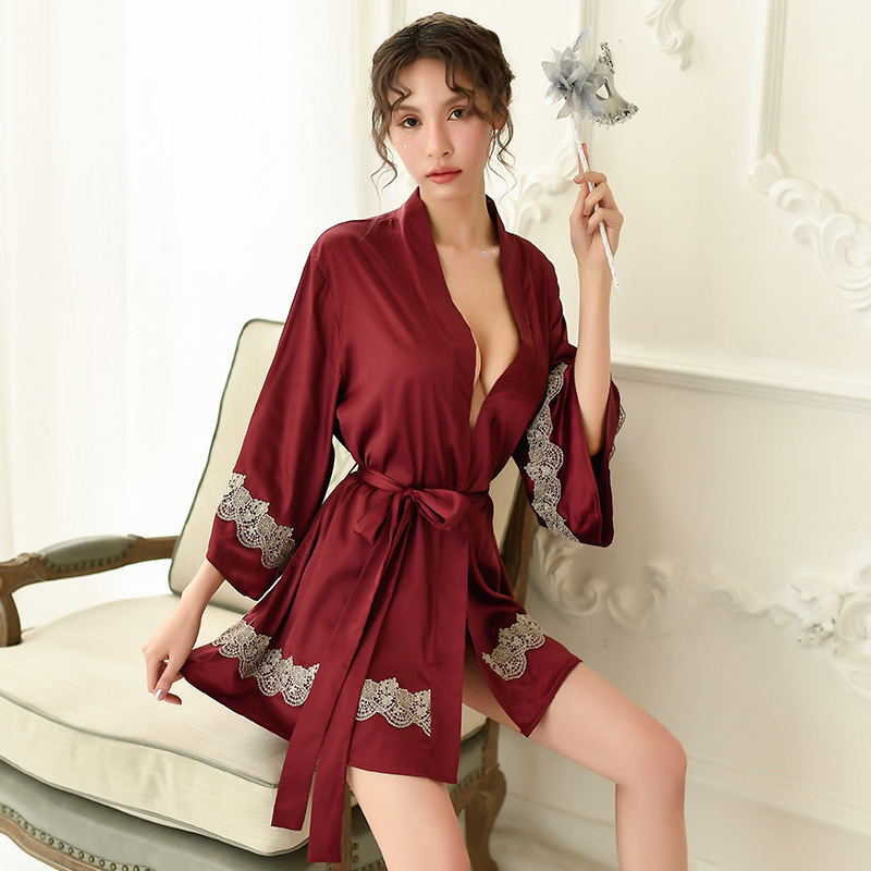 Women Pajama Strap Night Dress Nightwear Satin Silk Lingerie Sleepwear Nightgown