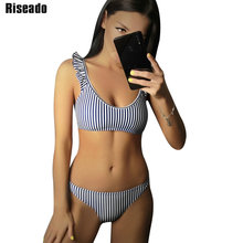 Riseado Sexy Ruffle Bikinis 2020 Striped Swimwear Women Push Up Swimsuits Female Brazilian biquini Beach Wear