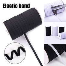 1 Roll of Elastic Bands Flat Waist Drawstring Clothes Accessory for Sewing Pants Lingerie K888(China)