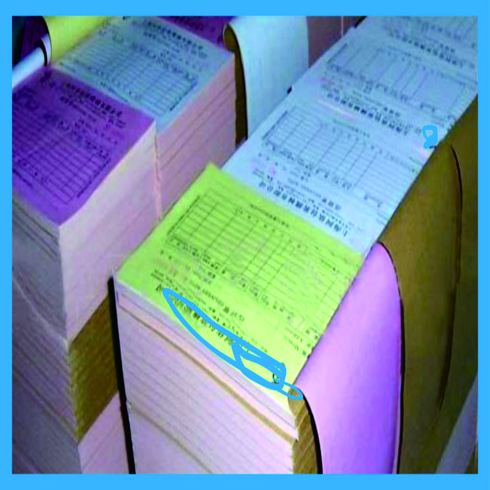 Carbonless Duplicate Paper Printing For Receipt Paper