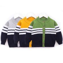 Осенний свитер для маленьких мальчиков детская трикотажная одежда