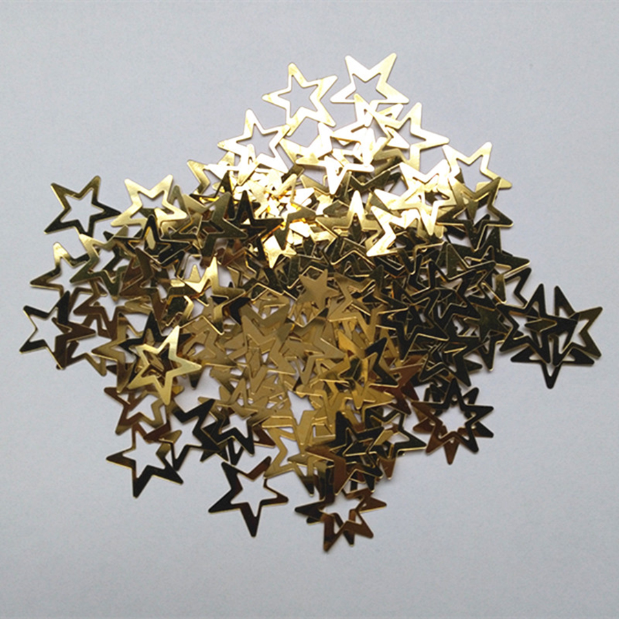 400 Gold /& Silver Star Sequins Christmas Confetti Wedding Table Art Decoration