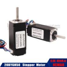 for mini cnc 3D printer Nema 8 Stepper motor 20BYGH50 0.8A 1.8 degrees 50mm Series Motor 1pcs 3pcs 5Ppcs