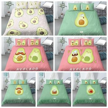 hot sell quilt cover bedclothes bedding set double layer blanket simple fashion crystal thicken velvet quilt cover home supplies Avocado Quilt Cover Queen Full King Single Size Cartoon Duvet Cover Bedclothes Comfortable Bedding Set