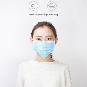 Image 5 - 3 Layer المتاح أقنعة طبية غير المنسوجة الكبار مكافحة الغبار قناع جراحي الغبار قناع الحماية الأزرق قناع وجه طبي