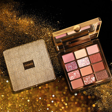 NOVO Cosmetics Twelve Color Eyeshadow Student's Beginners'Beauty Matte Pearl Fla