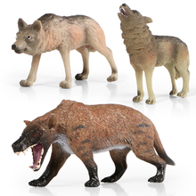 Kids Toys Figurine Wolf Forest-Animal Models Simulation Plastic Wildlife PVC