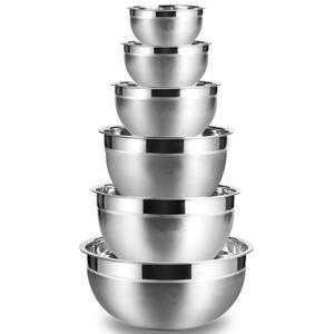 Stainless Steel Mixing Bowl (Set Of 6) Fruit Salad Bowl Storage Bowl Set Kitchen Salad Bowl