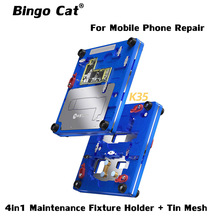Mijing K35 4 in 1 Maintenance Fixture Holder With Tin Mesh For iPhone 12 mini 12 Pro Max Disassembly Tin Planting Repair Tool