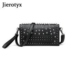 Женская сумка мессенджер jierotyx черная из натуральной спилковой
