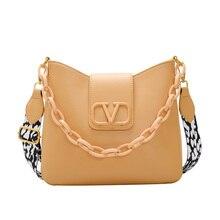 High quality solid chain women's messenger bag sac a main femme bags for women 2020 bolsa feminina crossbody bags for women