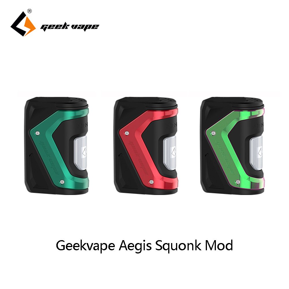 Vape Mod Geekvape Aegis Squonk Mod 100W TC Box Powered By 18650 Batteries 10ml Bottle Fit Tengu RDA VS GeekVape Athena Vapor