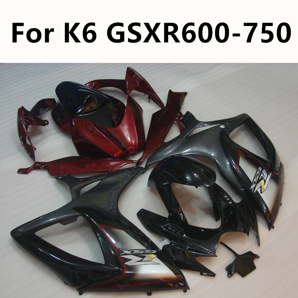 4 Colour Motorcycle 2006 <font><b>2007</b></font> 06 07 Bodywork Injection <font><b>Kit</b></font> ABS For Suzuki GSXR600 GSXR750 <font><b>GSXR</b></font> <font><b>600</b></font> K6 Full <font><b>Fairing</b></font> <font><b>Kit</b></font> image