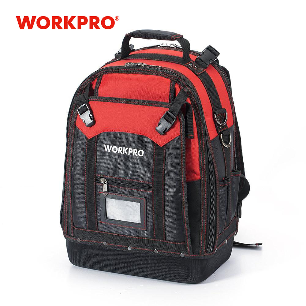 WORKPRO New Tool Backpack Tradesman Organizer Bag Waterproof Tool Bags Multifunction Knapsack Toolbag