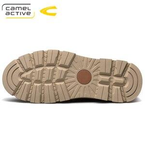 Image 3 - Camel Active nowe męskie buty ze skóry naturalnej ręcznie mężczyzna na zewnątrz buty w stylu casual grube podeszwy szwy antypoślizgowe męskie obuwie