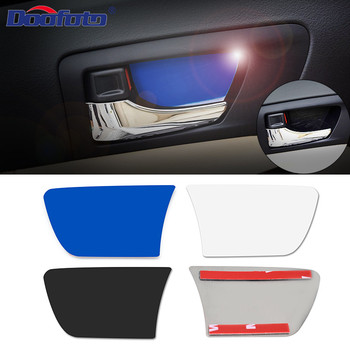 4Pcs Car Styling Accessories Door Handle Cover Wrist Bowl Trims Interior Stickers Case For Toyota Camry 2012 2013 2014 2015 2016 image