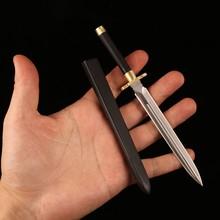 Handmade D3 Cosplay Mini Sword VG10 blade with Ebony wooden Saya Angel Sword HRC60