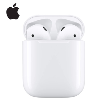 Apple-auriculares AirPods 2. ª generación con estuche de carga, Bluetooth, bajo inalámbrico, tonos de conexión Siri para iPhone, iPad, Mac, Apple Watch