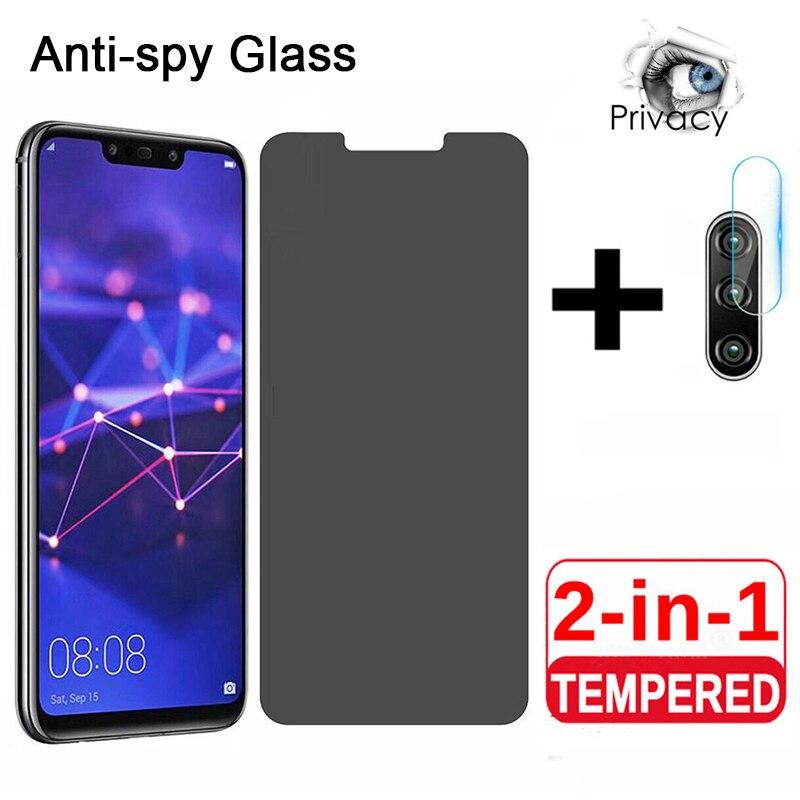 Защитное стекло 2 в 1, закаленное антишпионское стекло для Huawei P40 P30 P20Lite P20 P30 P40Pro