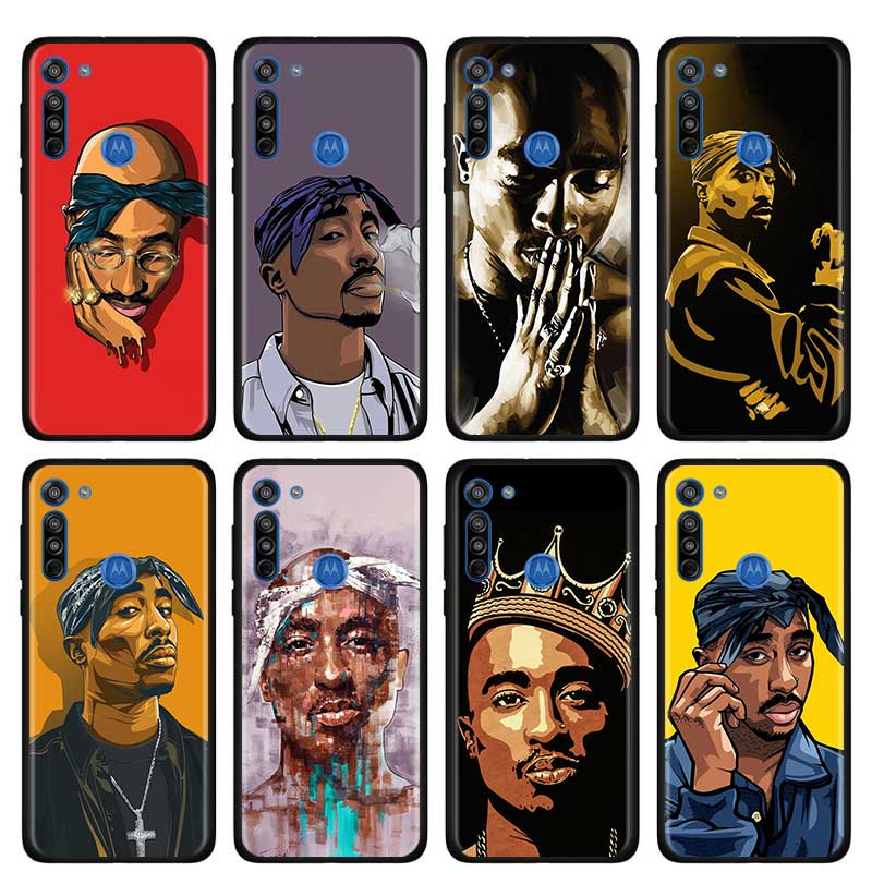 2Pac Tupac And Biggie Thin Case For Motorola G Style G8 Power Plus Play Lite One Hyper G Power E6s Edge Plus Phone Shell