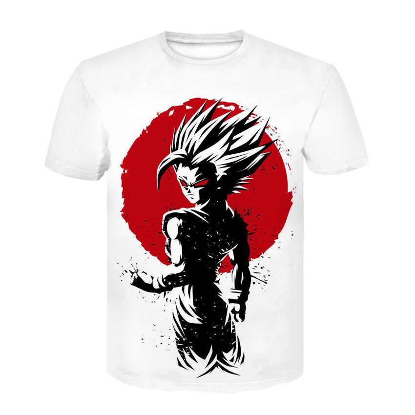 В виде персонажей из мультфильма «Жемчуг дракона» Z3D печатных футболка семь, шар дракона Z футболка Goku с короткими рукавами Для Мужчин's Одежда для пребывания на открытом воздухе