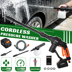 GUANXIN 20V Wireless High Pressure Car Washer Rechargeable Lithium Battery Auto Spray Water Car Cleaning Gun Handheld Cleaner