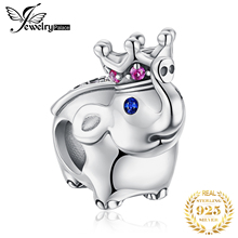 JewelryPalace 925 Sterling Silver Crown Elephant Beads Charms Original Fit Bracelet original Jewelry