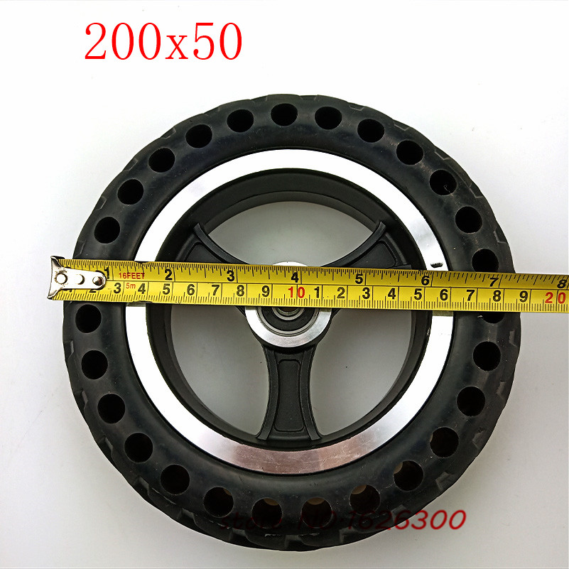 200x50 Explosion-proof Electric Bike Scooter tyres and Wheel hub 8 inch Motorcycle Solid wheel <font><b>Tires</b></font> Bee Hive Holes image