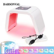 7 цветов PDT фотон светодиодный светильник для лица антивозрастная терапия омоложение кожи средство для удаления акне против морщин спа красота