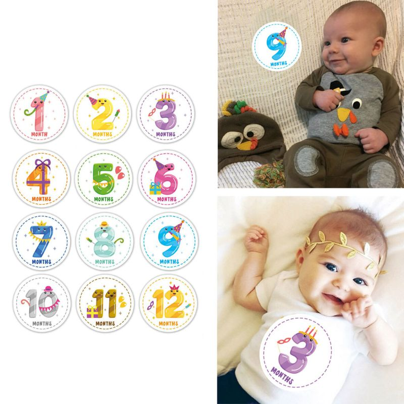 Baby Monthly Milestone Sticker Belly Decals Shower Gift Scrapbook Photo Keepsake U50F
