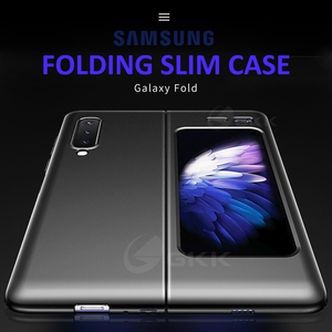 Image 2 - GKK Original For Samsung Galaxy Fold Case Anti knock Full Protection Ultra thin Flip Matte Hard PC Cover For Samsung Fold Coque