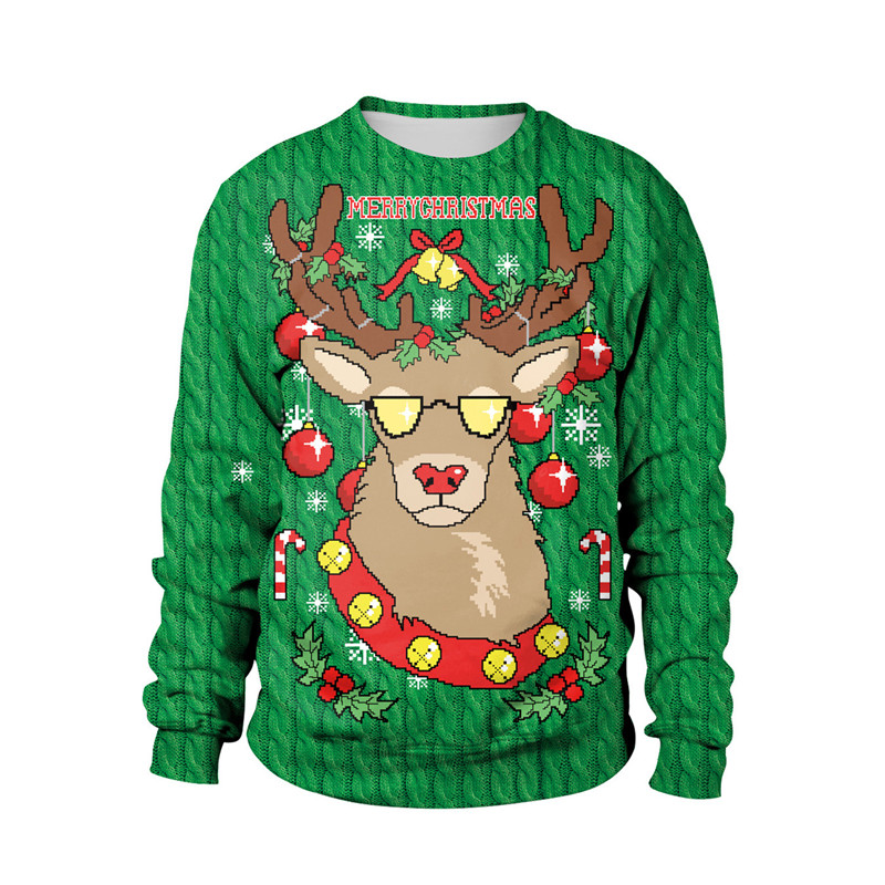 3D Print 2019 Ugly Christmas For Gift Funny Pullover Thin Sweater Womens Mens Jerseys Tops Autumn Winter Clothing Xmas Lady