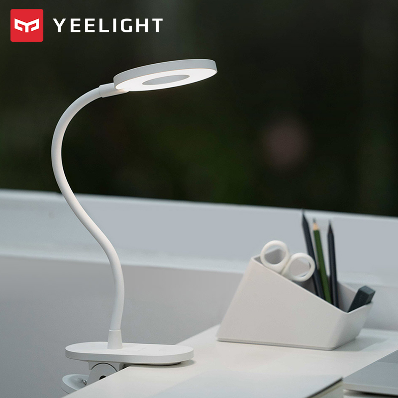 Xiaomi Yeelight LED Desk Lamp Clip-On Night Light USB Rechargeable 5W 360 Degrees Adjustable Dimming Reading Lamp For Bedroom