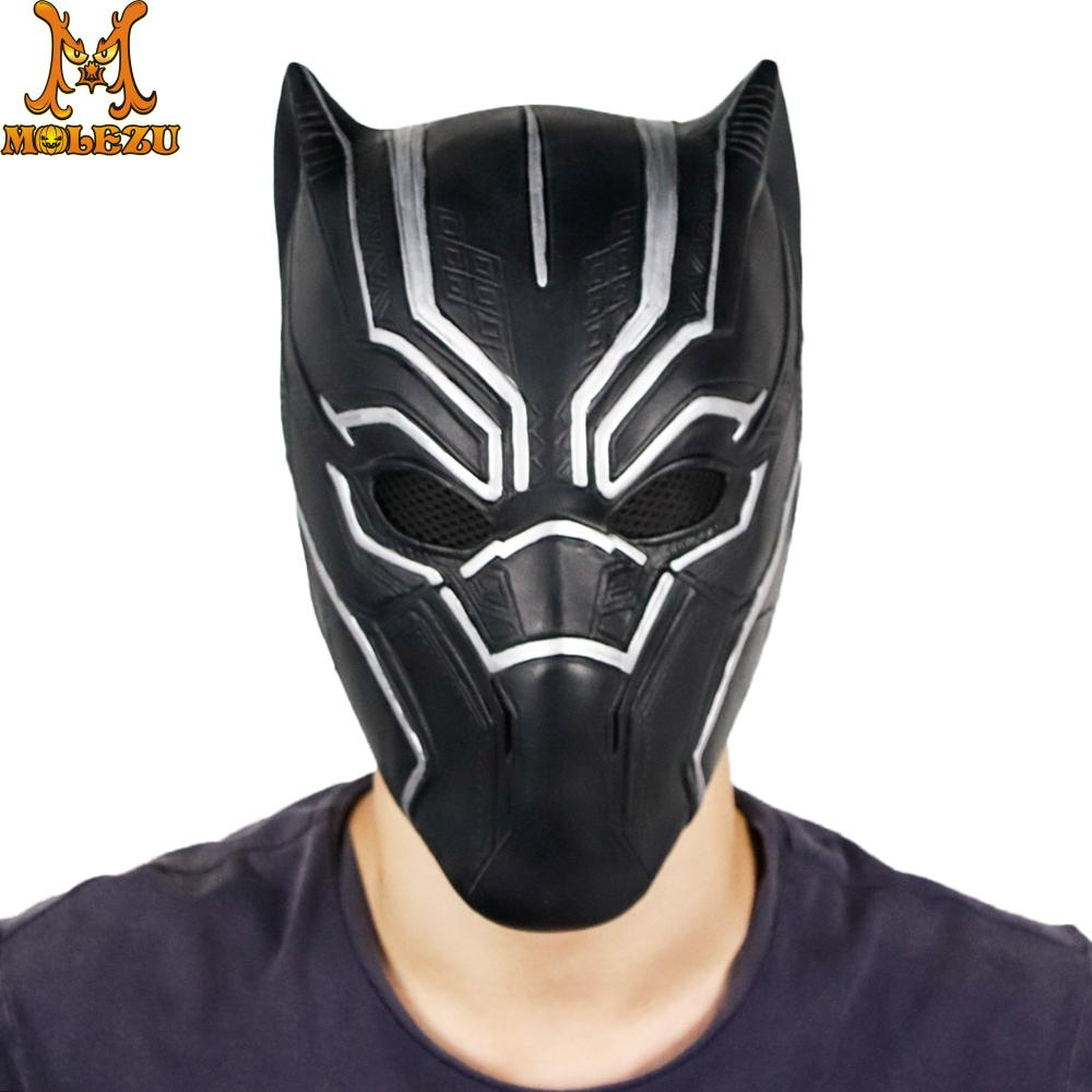 Black Panther Mens Captain American Civil War Full Adult Mask