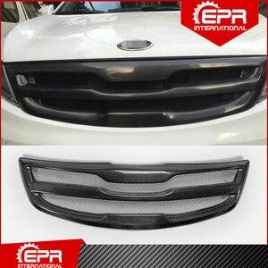 Для Kia Sportage R 2011 + RD Style, отделка для переднего гриля из углеродного волокна, блестящая карбоновая Решетка переднего бампера, сетчатый чехол дл...