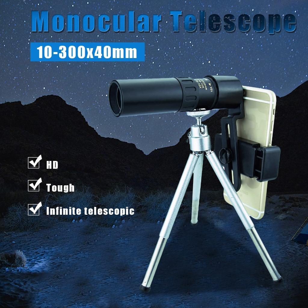 Портативный телескоп Монокуляр 4k 10 300x40мм Супер телефото зум Монокуляр телескоп с держателем смартфона Кемпинг Au6|Телескоп и бинокли|   | АлиЭкспресс