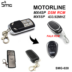 Dla MOTORLINE 433.92MHz drzwi garażowe sterowane zdalnie klon MX4SP MX5SP RCM sterowanie bramą DSM MOTORLINE FALK RCM polecenie garażu