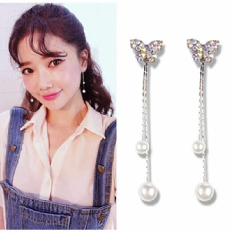 2019 delicate bow small fresh simulation pearl earrings Korean version of the new fashion sweet earrings ladies jewelry wholesal