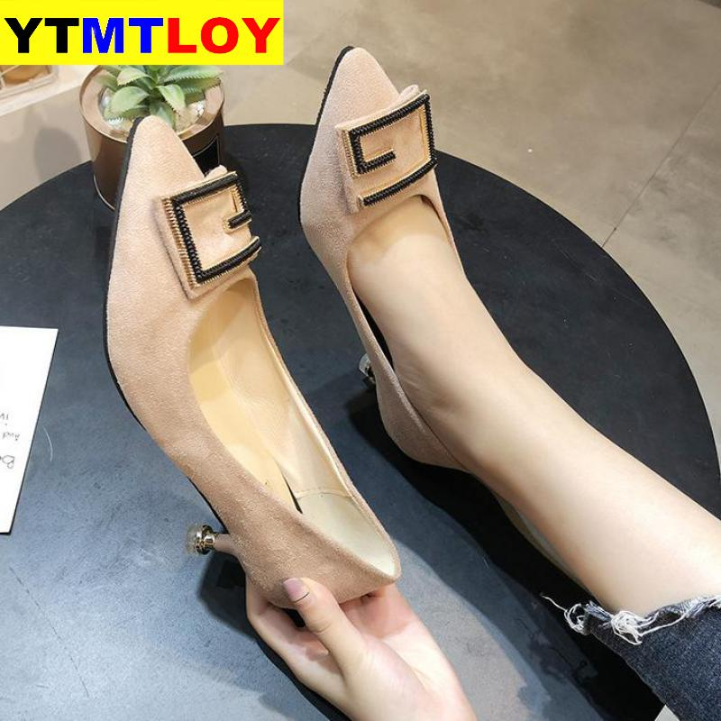 Spring High Heels Women Pumps Pointe Shoes Thin Heel Ladies Shoes Fashion Woman Wedding Shoes Sexy Pink Heels Zapatos