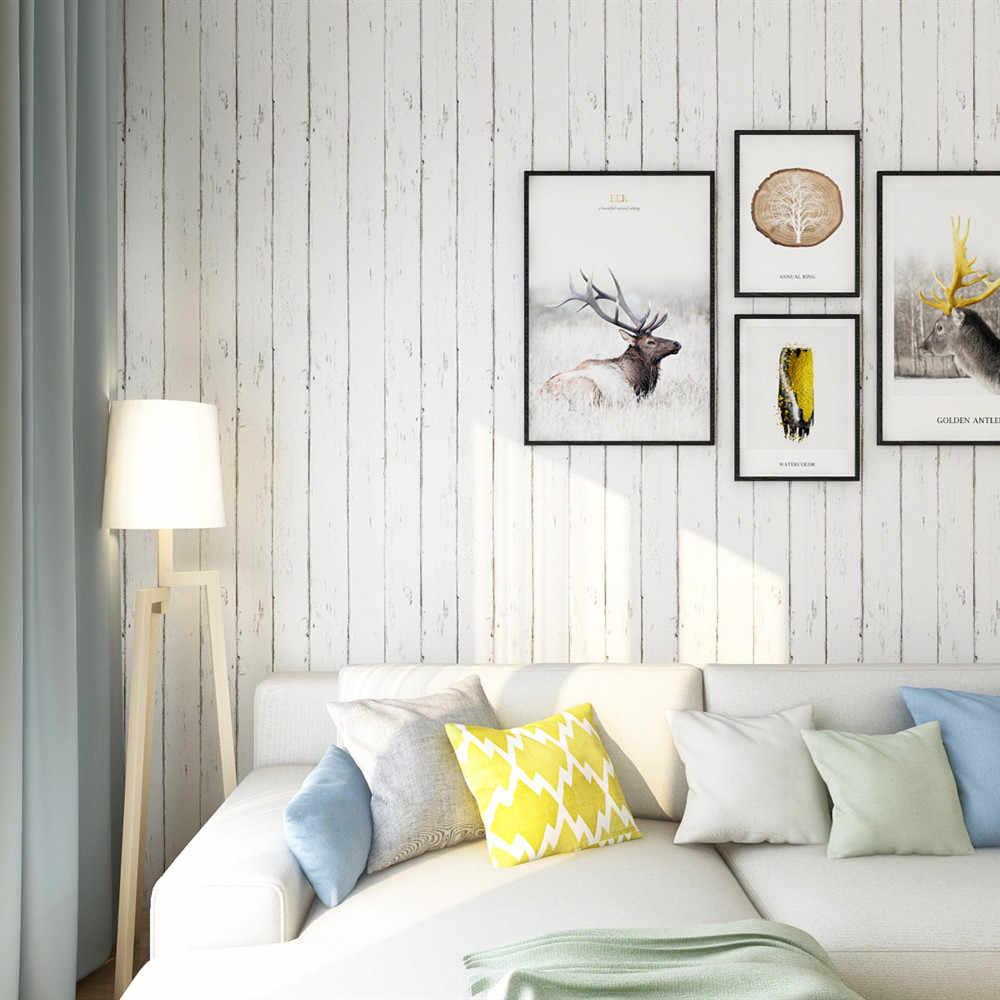 Papier Peint En Bois Blanc Peler Et Coller Papier Peint Auto Adhesif Papier Peint Amovible Pour Chambre D Enfant Mur Decor A La Maison Aliexpress