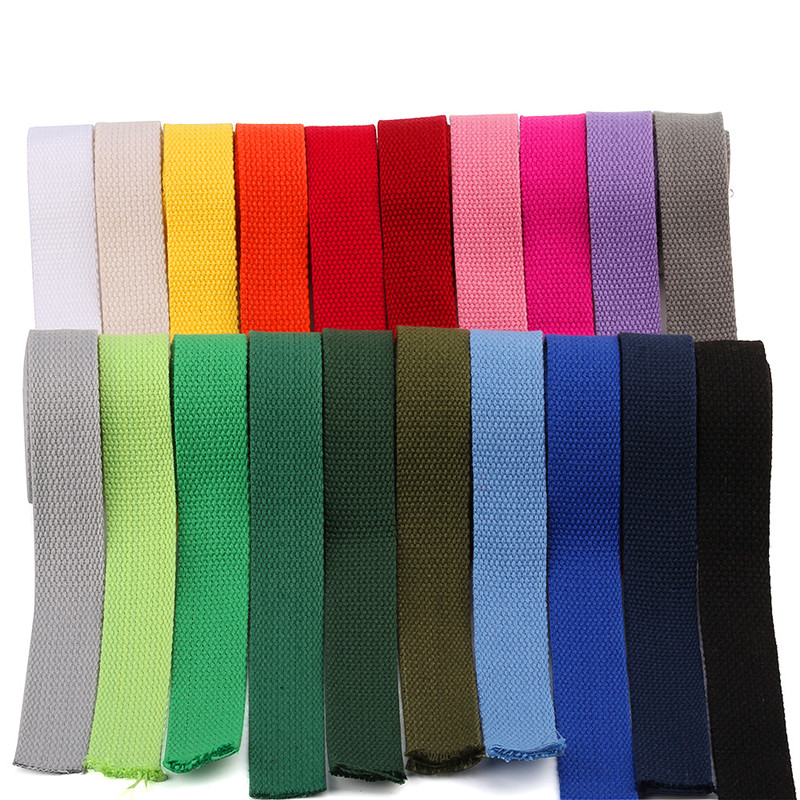25MM *6M Polyester / Cotton Thick Plain Canvas Belt Webbing Backpack Strap Luggage Accessories Bag Making Sewing DIY Craft