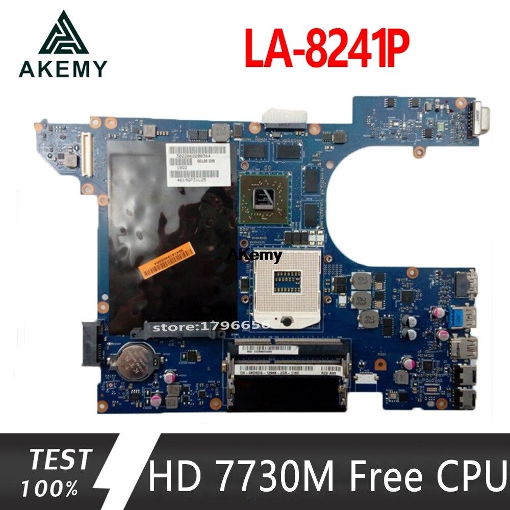 LA-8241P Motherboard CN-06D5DG 06D5DG 6D5DG For Dell Inspiron 15R 5520 7520 Laptop Motherboard HD 7730M/2GB Dell 5520  Free CPU