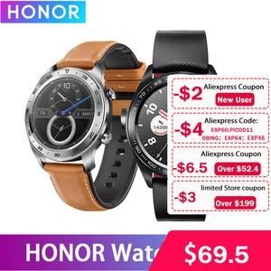Image 2 - Huawei Honor שעון קסם עמיד למים GPS NFC עבודה 7 ימים הודעה תזכורת לב קצב גשש שינה Tracker 1.2 אינץ מסך