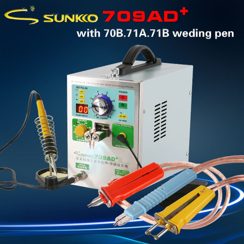 SUNKKO 709AD 709AD+ New High-power Nickel Belt Battery Spot Welder 18650 Battery Welding