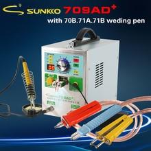 SUNKKO 709AD 709AD + yeni yüksek güç nikel kemer pil nokta kaynakçı 18650 pil kaynak
