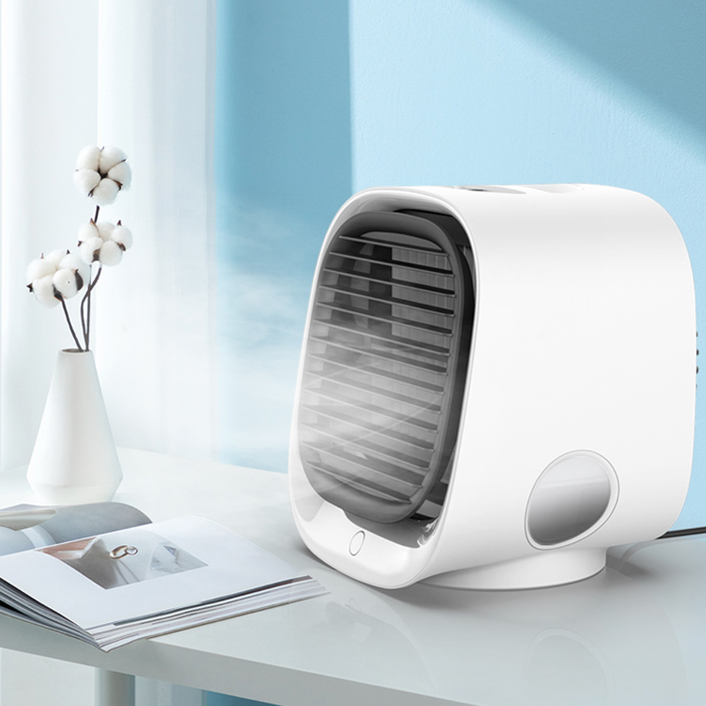 Mini Portable Air Conditioner Light Conditioning Humidifier Purifier USB Desktop Air Cooler Fan For Home Office
